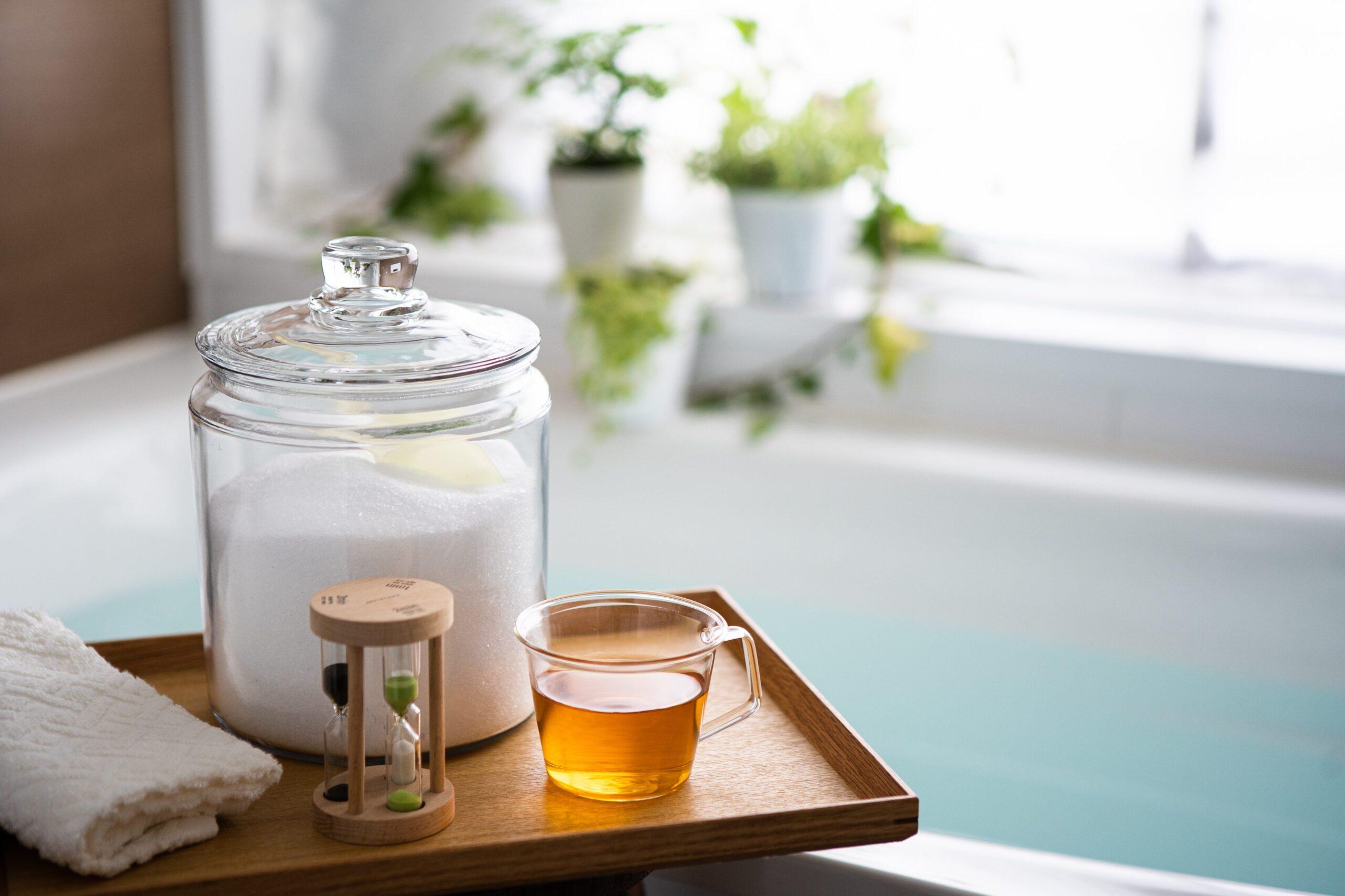夏のエプソムソルト入浴の方法